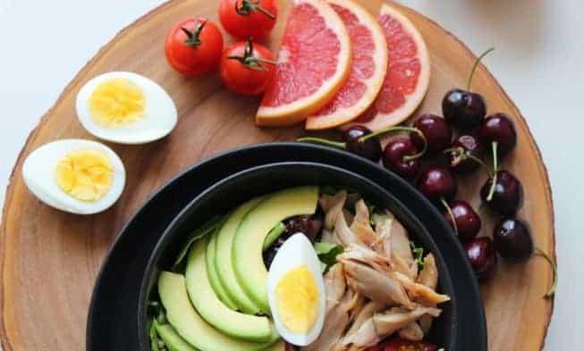frutas y verduras huevos