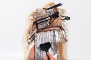 teñido del cabello